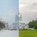 Лето и зима Питер...