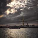 Солнечный портал над Петропавловкой...