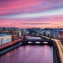 Ночной разноцветный Питербург