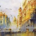Акварельный Петербург в картинах Ольги Литвиненко