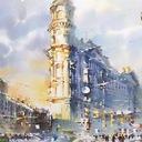 Акварельный Петербург в картинах Ольги Литвиненко9